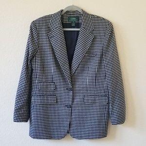 Lauren Ralph Lauren blue white blazer size 14